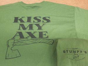 Green Kiss My Axe Tee